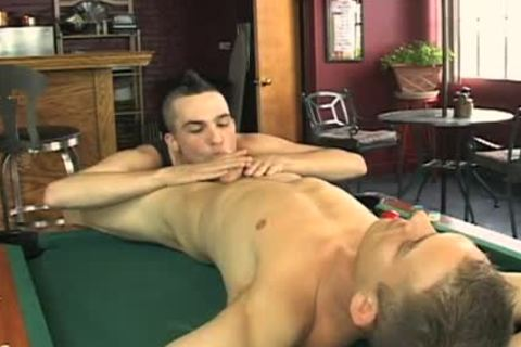 Mohawk Buddy Fills My butthole On Billiards Table