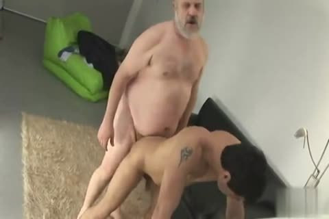overweight daddy guy With juvenile lad